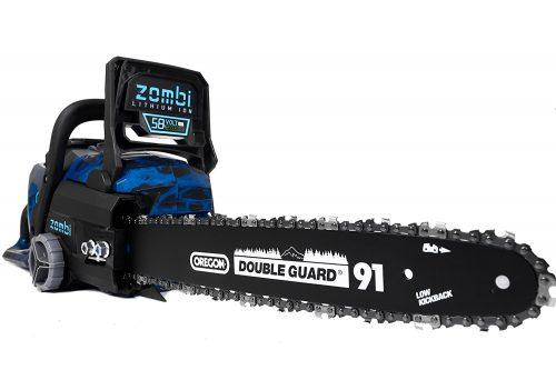 Zombi ZCS5817 16-Inch 58-Volt 4Ah Lithium Cordless Electric Chainsaw